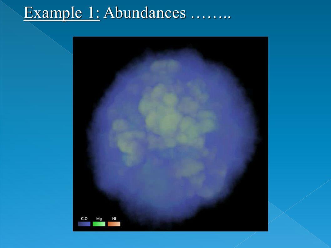Example 1: Abundances ……..