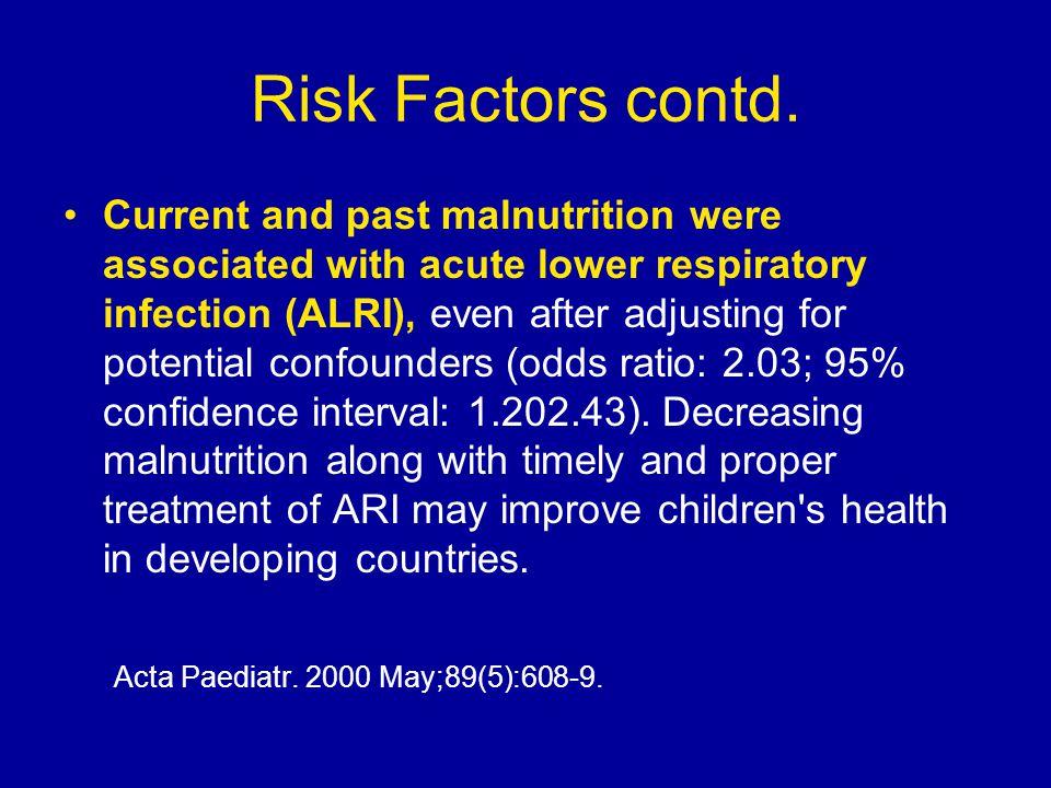 Risk Factors contd.