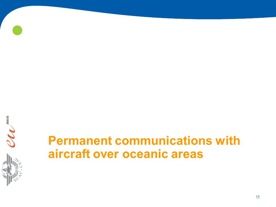 15 Permanent communications with aircraft over oceanic areas