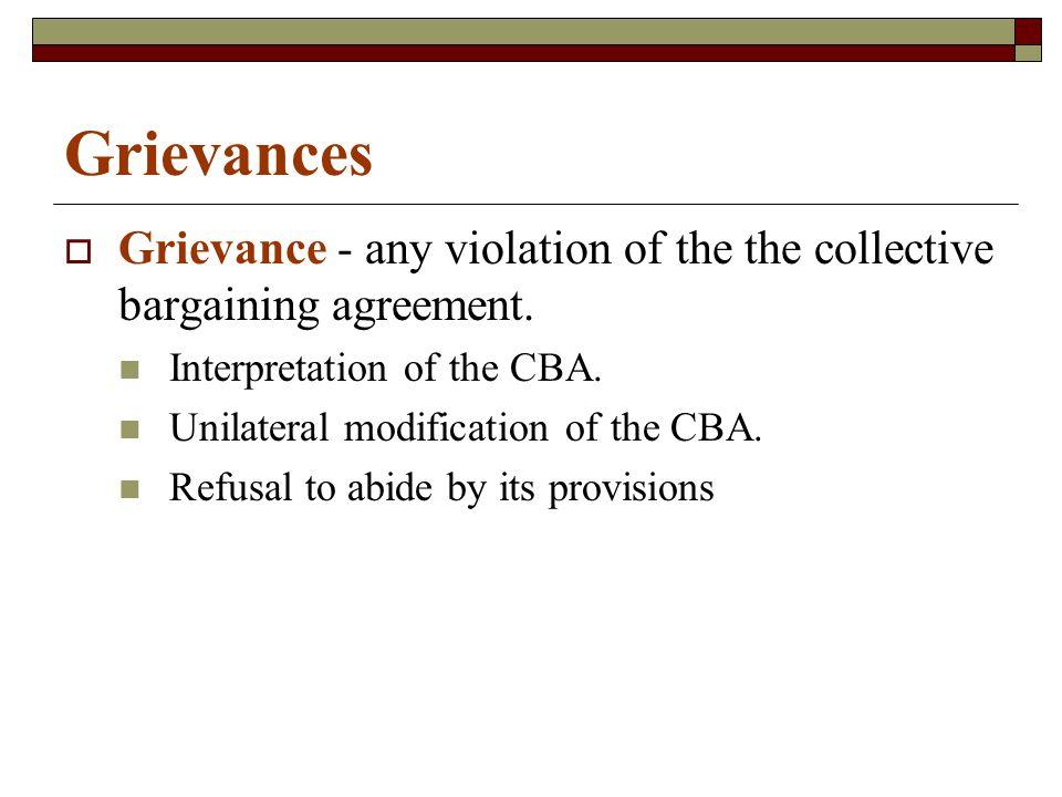 Grievances  Sources of Grievances Discipline18% Pay17% Working Conditions16% Job Assignments16%