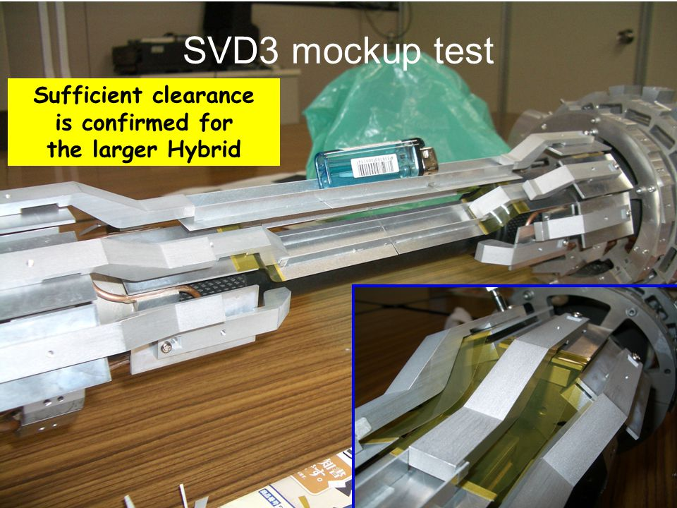 SVD3 mockup test Sufficient clearance is confirmed for the larger Hybrid