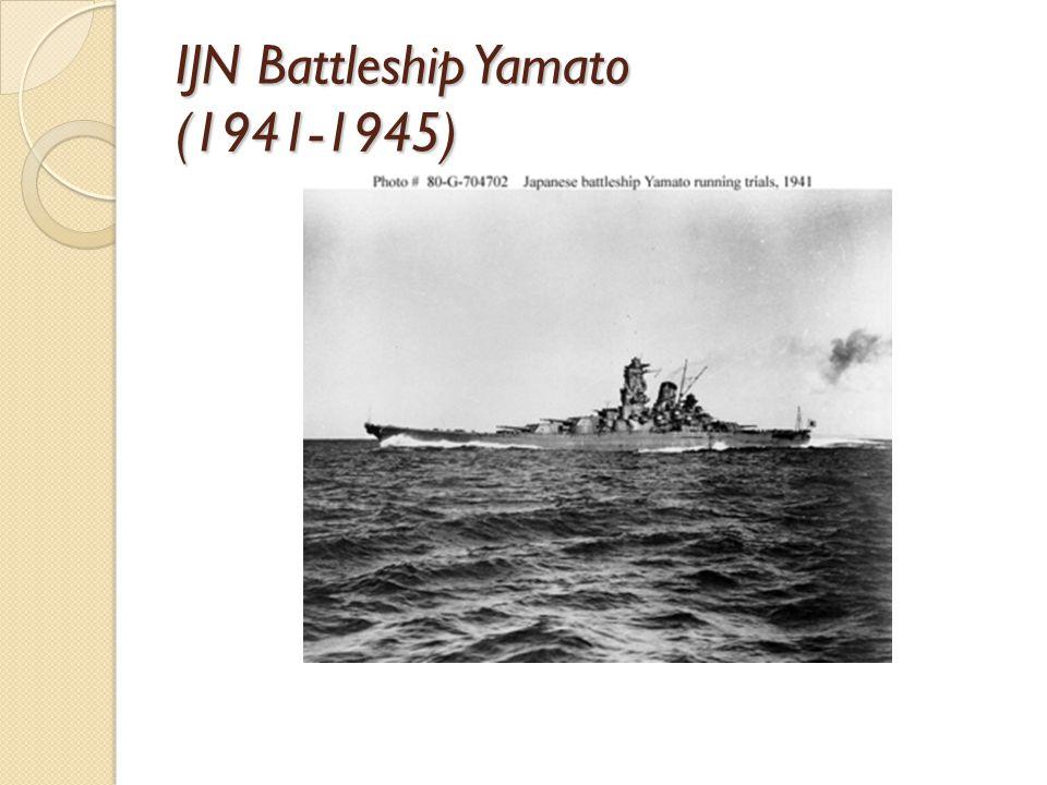 IJN Battleship Yamato (1941-1945)