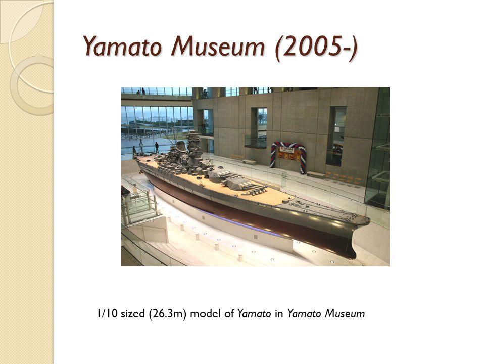 Yamato Museum (2005-) 1/10 sized (26.3m) model of Yamato in Yamato Museum