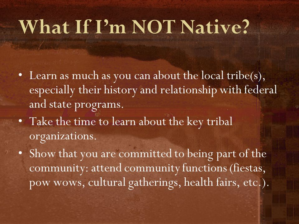 What If I'm NOT Native.
