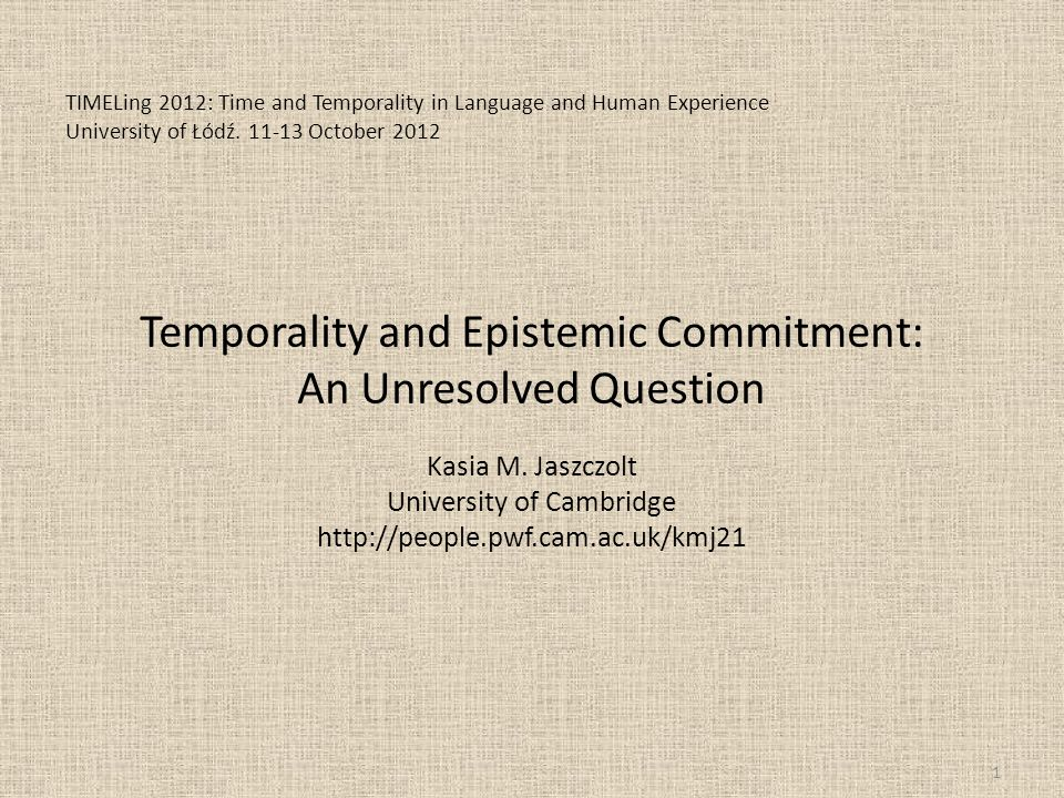 Supervenience on Modality: Tensism or Tenseless Time.