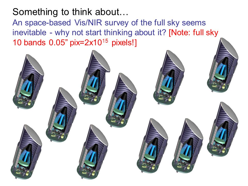 Something to think about… An space-based Vis/NIR survey of the full sky seems inevitable - why not start thinking about it? [Note: full sky 10 bands 0
