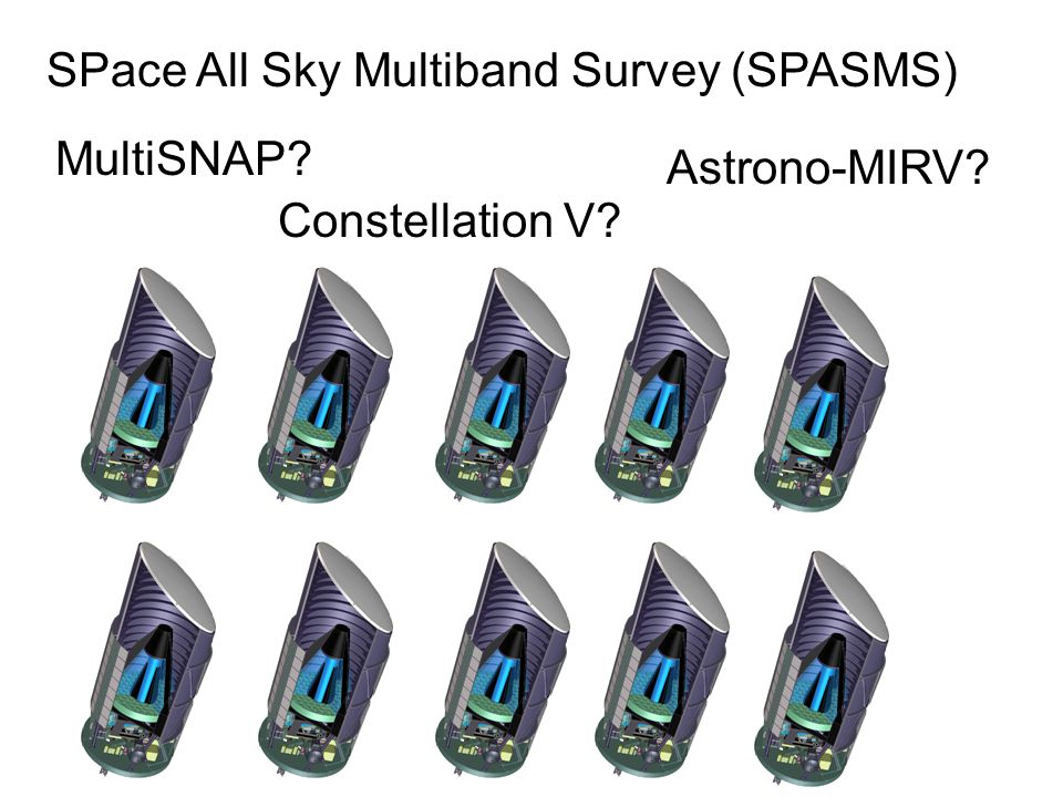 SPace All Sky Multiband Survey (SPASMS) Constellation V MultiSNAP Astrono-MIRV