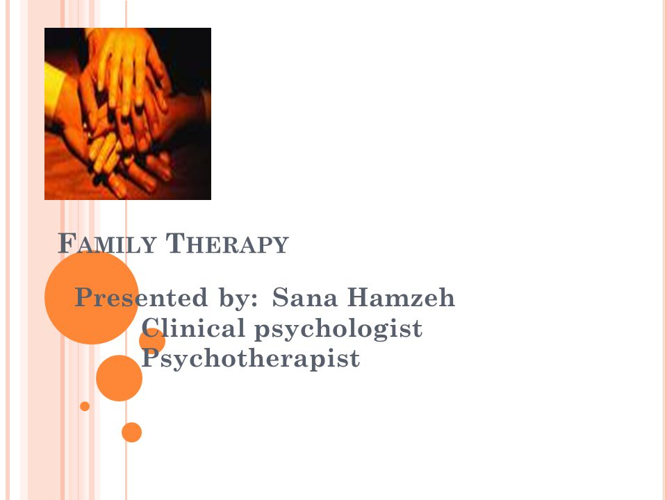 D EFINITION Family therapy ( as its name indicates) is an interpersonal therapeutic technique applied to family.
