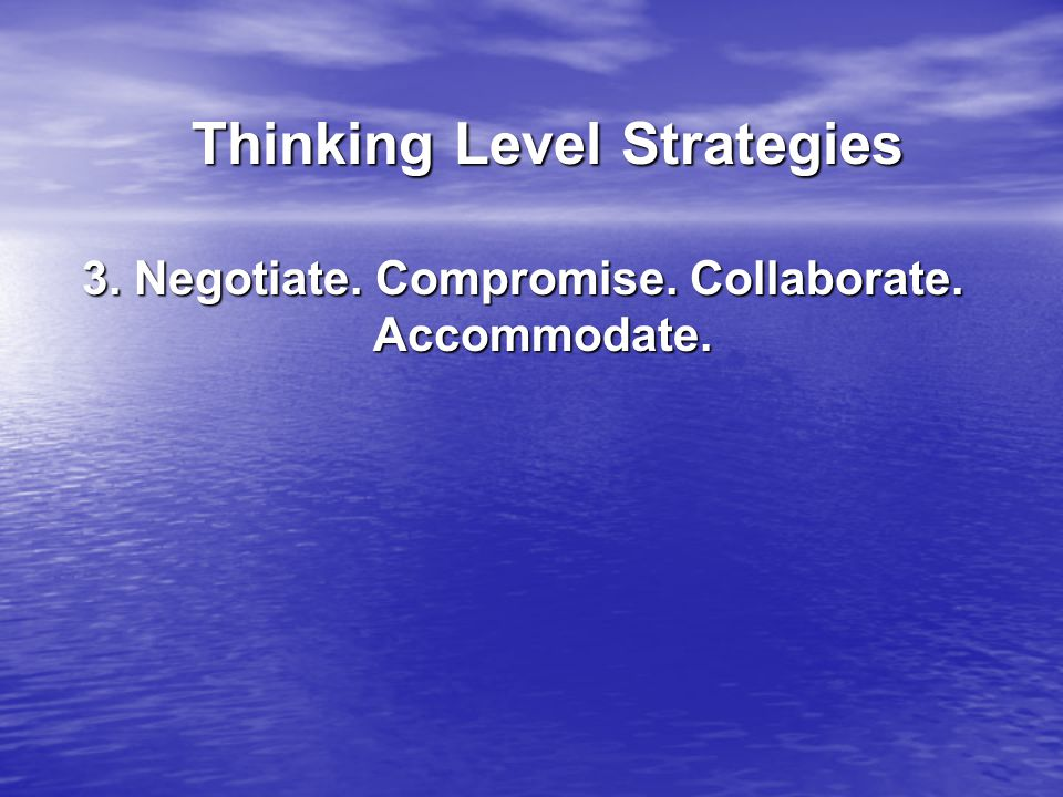 Thinking Level Strategies Thinking Level Strategies 3.