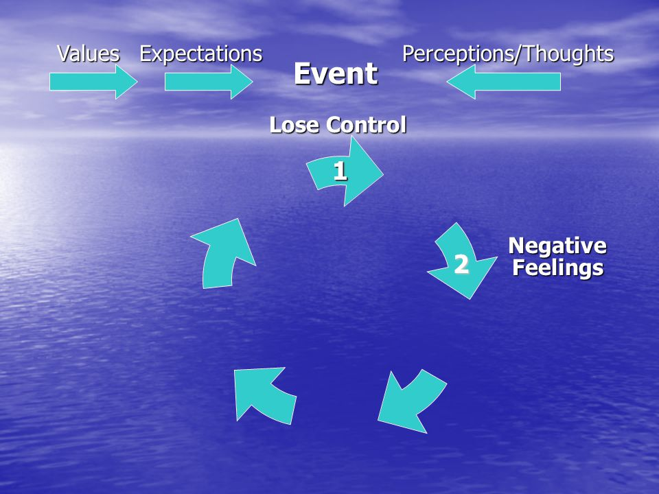 Event 1 2 ValuesExpectationsPerceptions/Thoughts 1 Negative Feelings