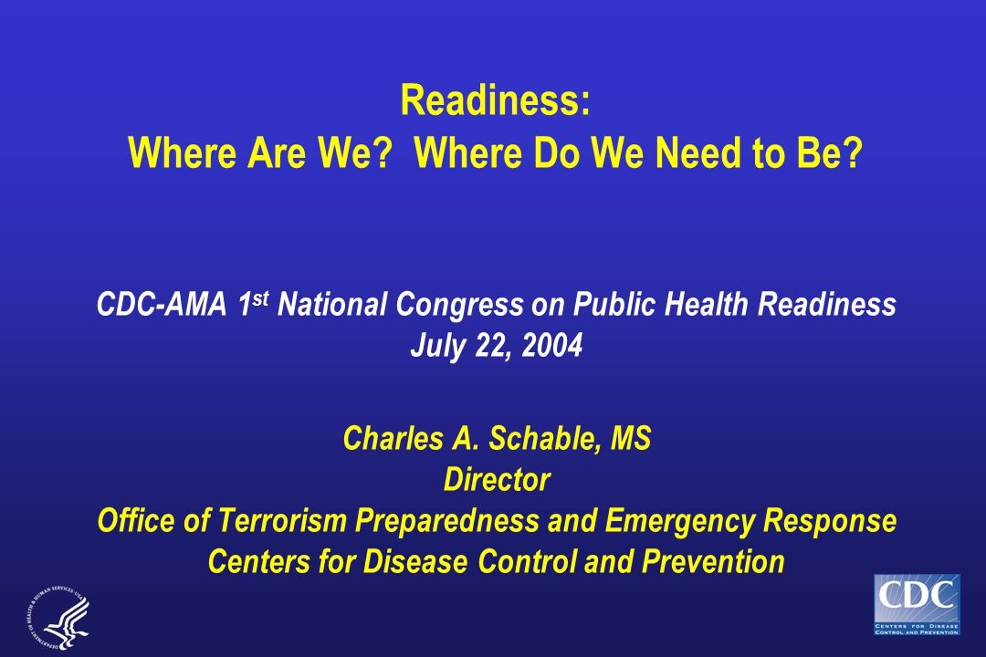 Readiness: Where Are We. Where Do We Need to Be.