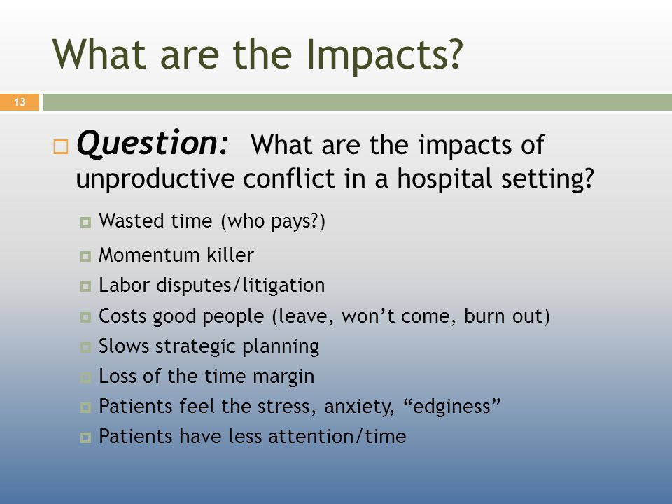 What are the Impacts.
