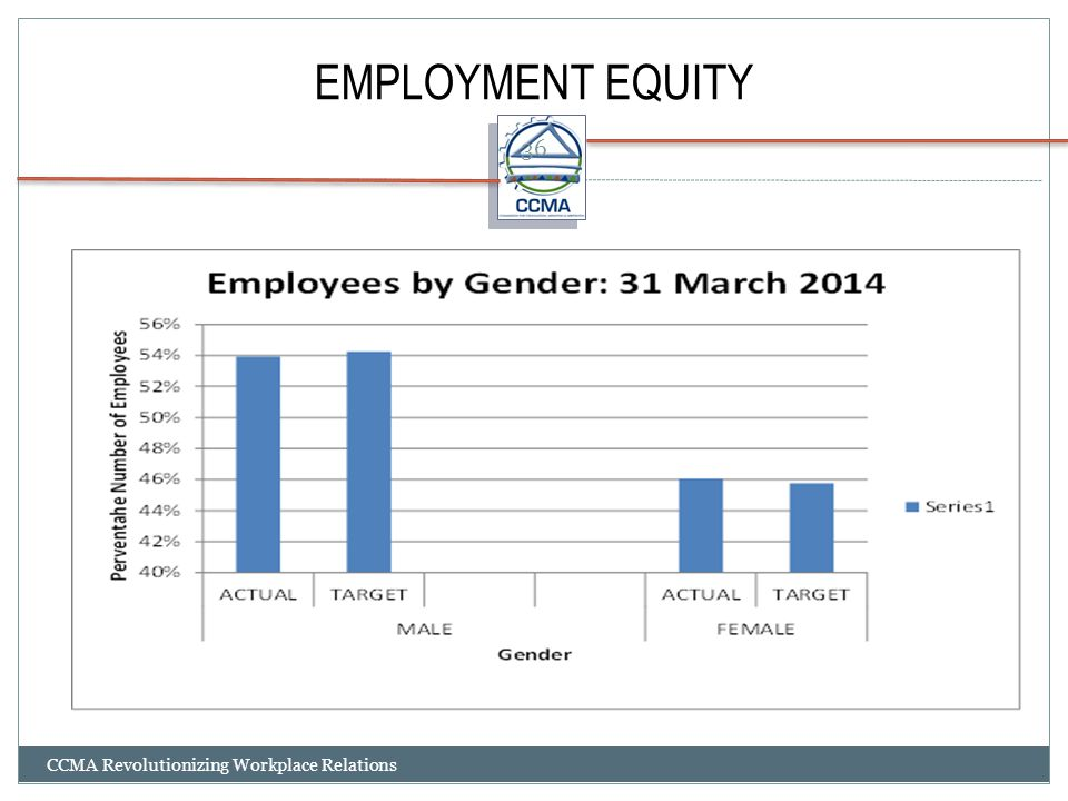EMPLOYMENT EQUITY CCMA Revolutionizing Workplace Relations 36