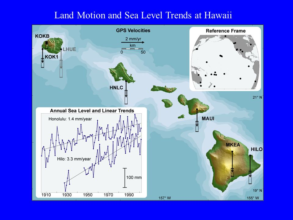 Land Motion and Sea Level Trends at Hawaii