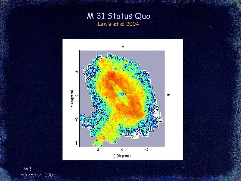 HWR Princeton 2005 M 31 Status Quo Lewis et al 2004