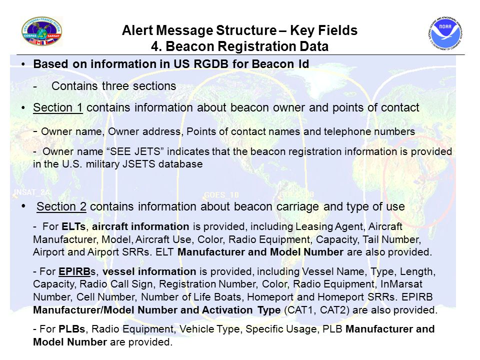 Alert Message Structure – Key Fields 4.