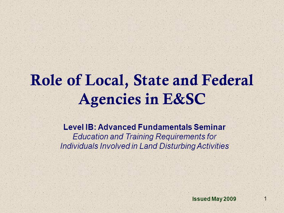 2 Overview Agencies Involved Local –Local Issuing Authorities (Cities/Counties) –Local Issuing Authorities with Memorandums of Agreement State –Georgia Soil and Water Conservation Commission –Soil and Water Conservation Districts –Environmental Protection Division Federal –Natural Resources Conservation Service (USDA) –U.S.