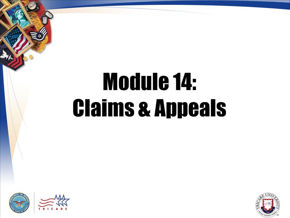 Module 14: Claims & Appeals