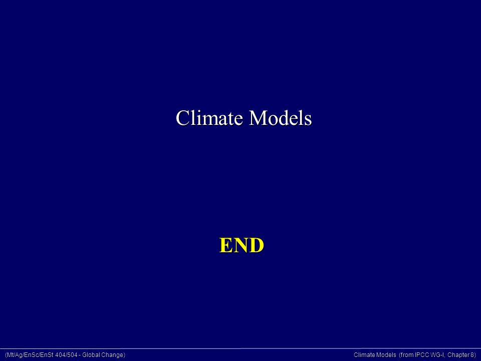 (Mt/Ag/EnSc/EnSt 404/504 - Global Change) Climate Models (from IPCC WG-I, Chapter 8) END Climate Models