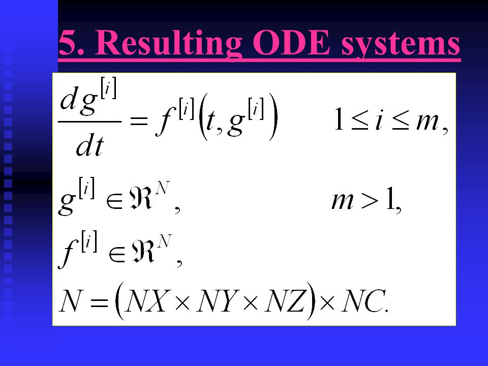 5. Resulting ODE systems