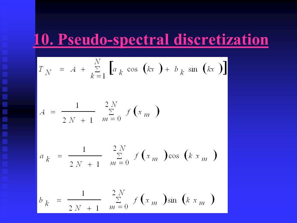 10. Pseudo-spectral discretization