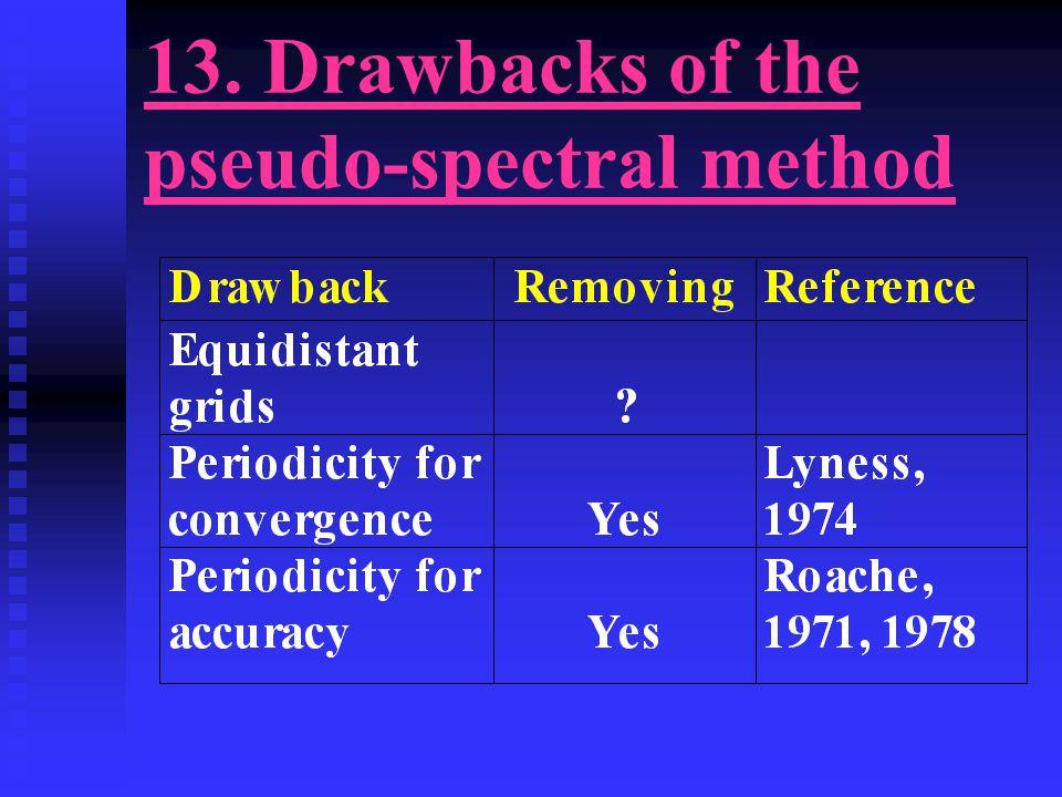 13. Drawbacks of the pseudo-spectral method