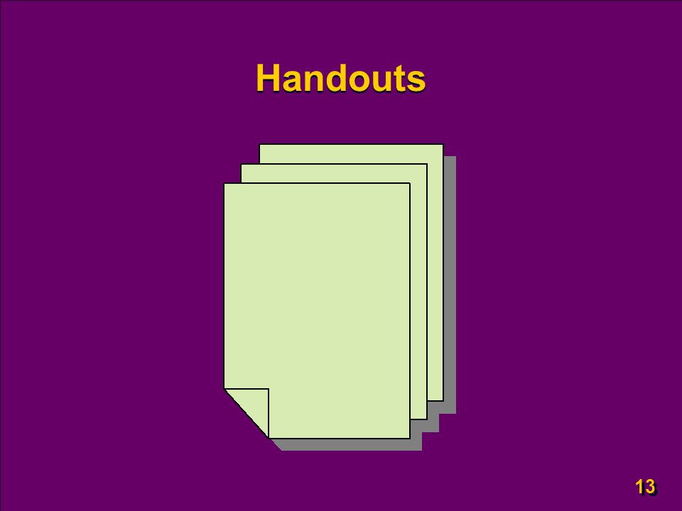 13 Handouts