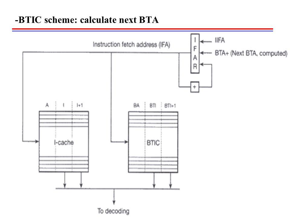 -BTIC scheme: calculate next BTA