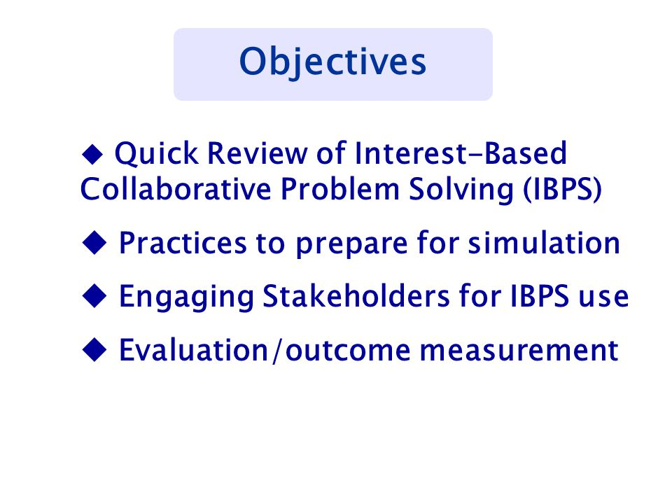 Look back at problem and ensure solution is comprehensive Draft solution & re-check consensus Develop implementation plan with timeline and responsibilities Communicate with constituents Measure and evaluate effectiveness of solution © 2007, Christina S.