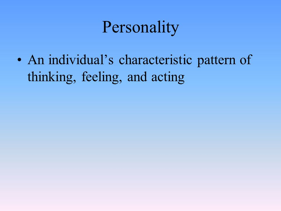 Freud's Concept of the Id The part of personality that consists of unconscious energy from basic aggressive and sexual drives Operates on the pleasure principle - the id demands immediate gratification Is present from birth