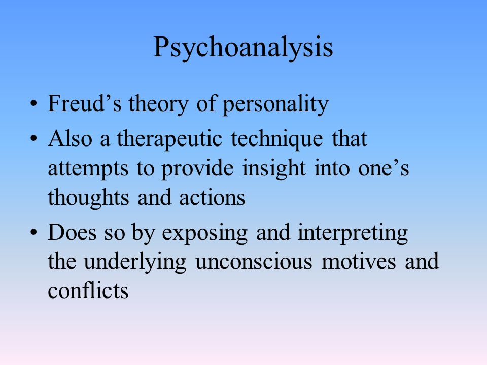Psychosexual Stages In Freudian theory, the childhood stages of development during which the id's pleasure seeking energies are focused on different parts of the body The stages include: oral, anal, phallic, latency, and genital A person can become fixated or stuck at a stage, leading to problems as an adult