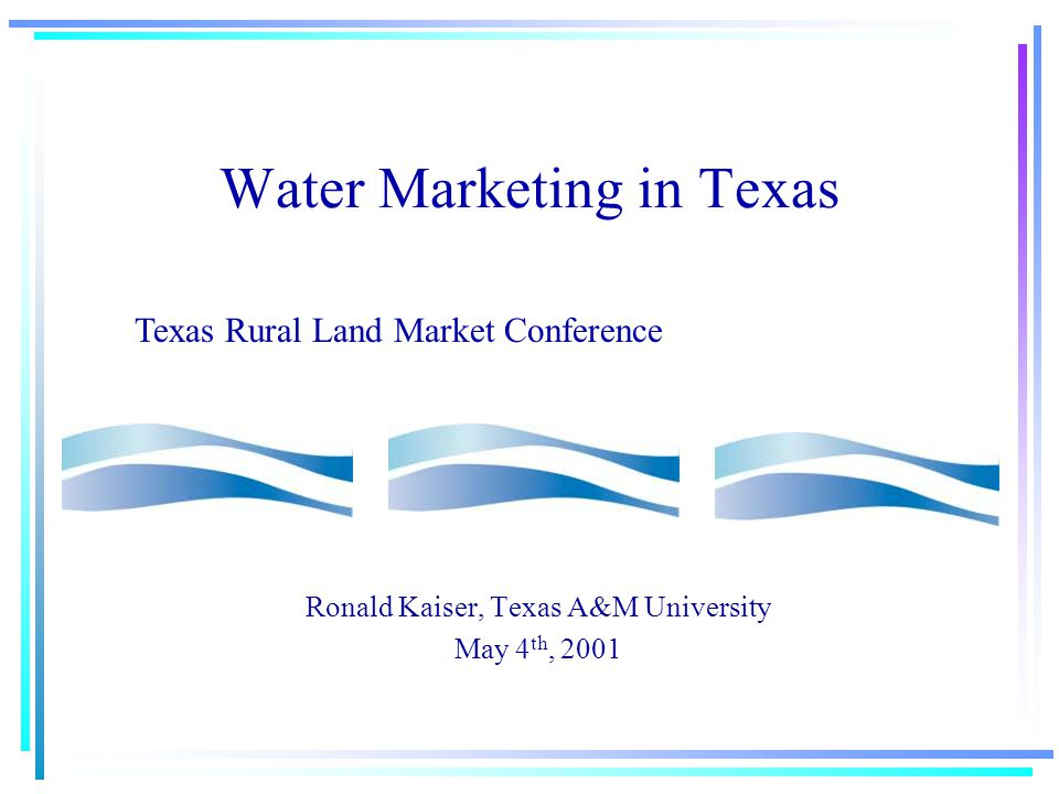 Nonstructural Approaches Conservation—15% of needs Using Sewage—5% of needs Marketing—10 % of needs Drought Management Negotiating for water Drivers for Change to Marketing Declining Irrigation Use 13.5 maf (1974) 10 maf (2000) 9.5 maf (2010) Economic Efficiency—highest/best use