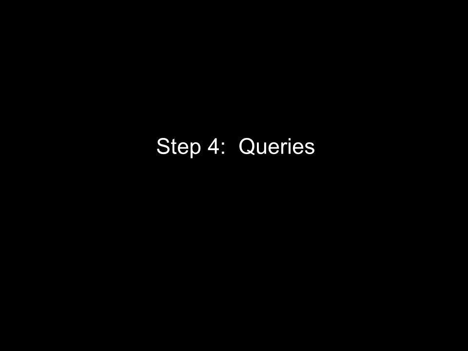 Step 4: Queries