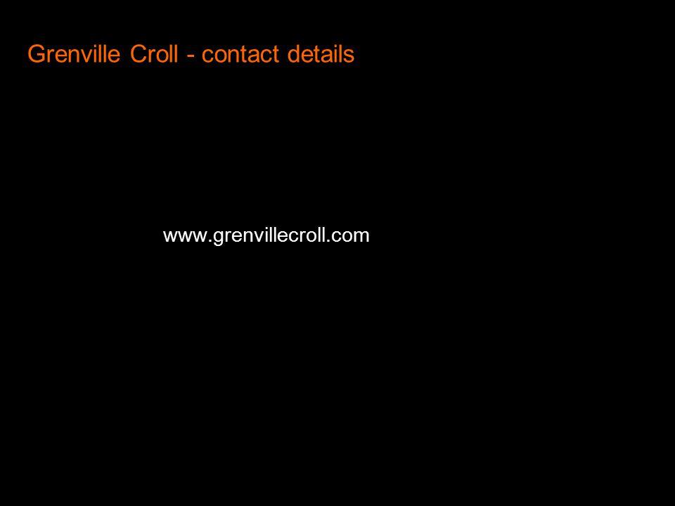 Grenville Croll - contact details www.grenvillecroll.com