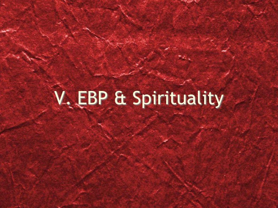 V. EBP & Spirituality