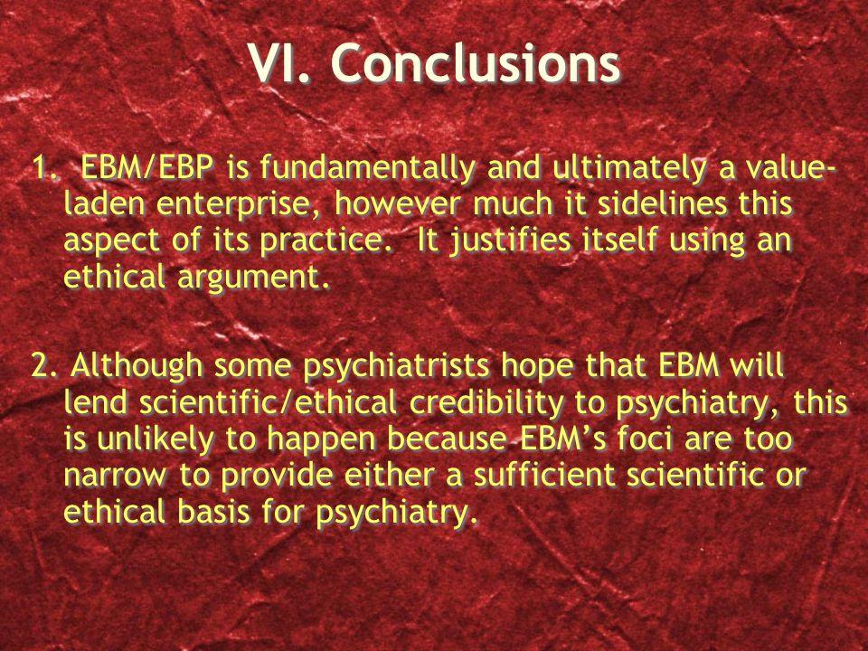 VI. Conclusions 1.