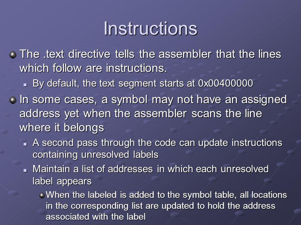 Translate pseudo-instructions lui $6, $6, 0x1000 lui $6, $6, 0x1000 ori $6, $6, 0x0004 ori $6, $6, 0x0004 lw $7, 4($6) lw $7, 4($6) mult $10, $7 mult $10, $7 mflo $9 mflo $9 b loop b loop ori $v0, $0, 10 ori $v0, $0, 10 syscall syscall la $6, a2 loop: lw $7, 4($6) mul $9, $10, $7 b loop li $v0, 10 syscall