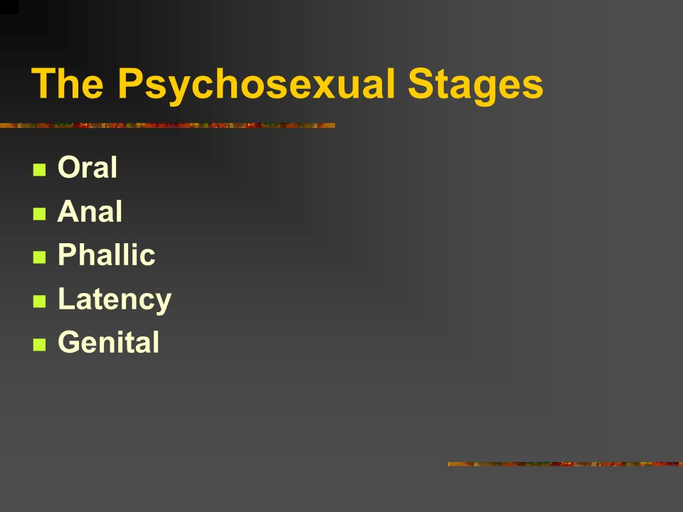 The Psychosexual Stages Oral Anal Phallic Latency Genital