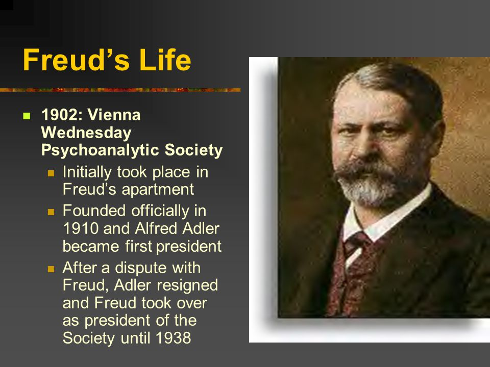 Agree or be uninvited next week… Freud saw himself as the leader, teacher, and prophet of this group of intellectuals