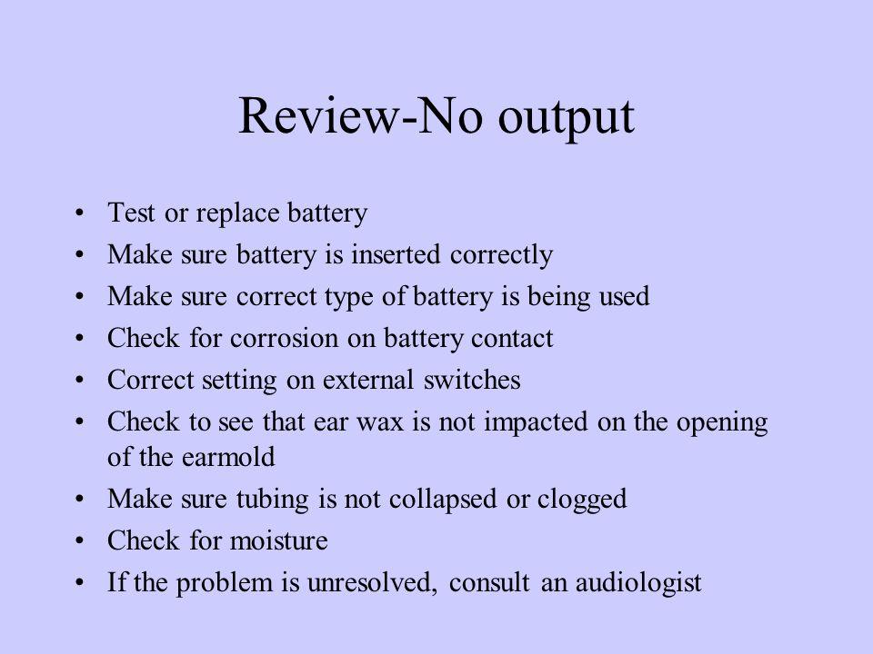Review-No output
