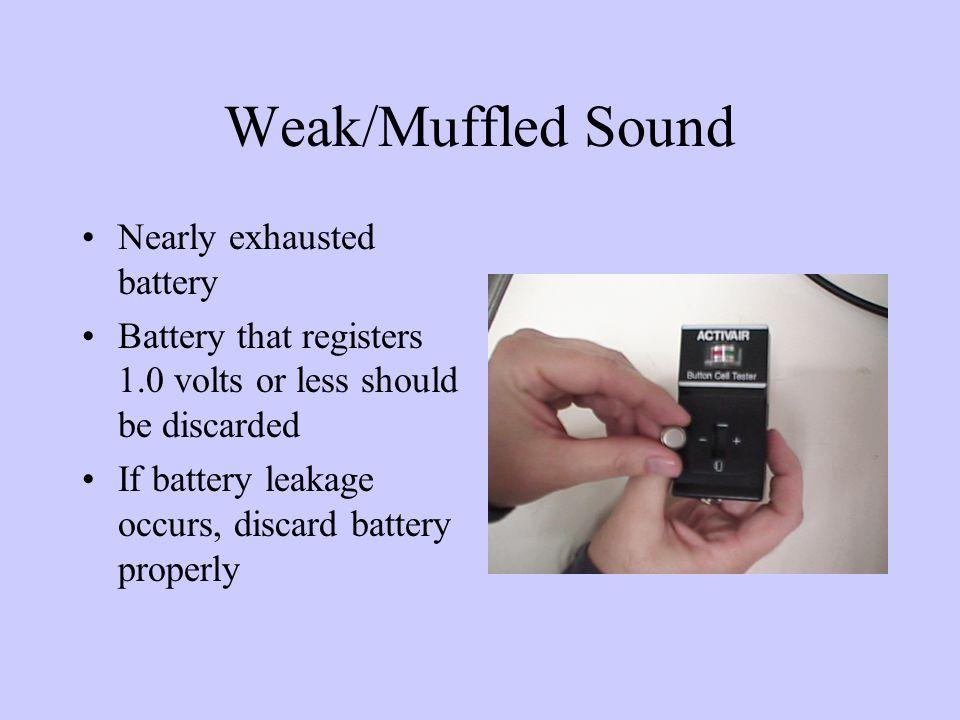 Hearing aid weak