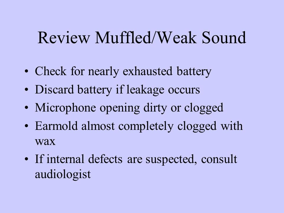 Review-muffled/weak sound