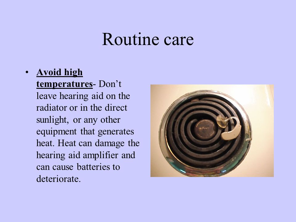 Routine Care of Hearing Aid