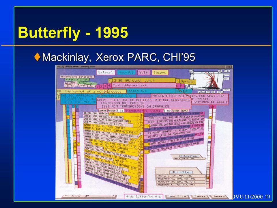 GVU 11/2000 23 Butterfly - 1995  Mackinlay, Xerox PARC, CHI'95