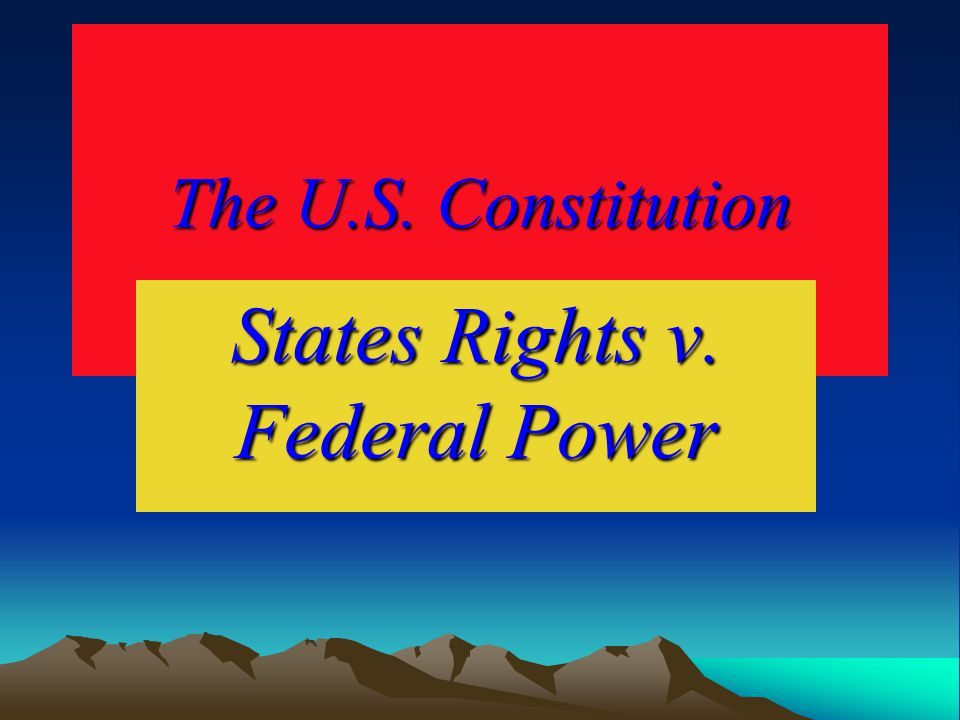 Issues with States Rights and Federal Power Conclusions: The effect of the Federal Government's actions since the last half of the 20 th century have generally established the dominance of federal law in the area of individual civil rights, though there is still some resistance to this and also some criticism of the federal government for violating civil rights.