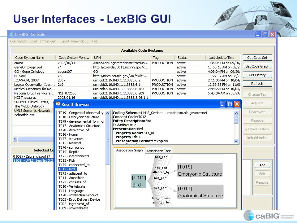 User Interfaces - LexBIG GUI