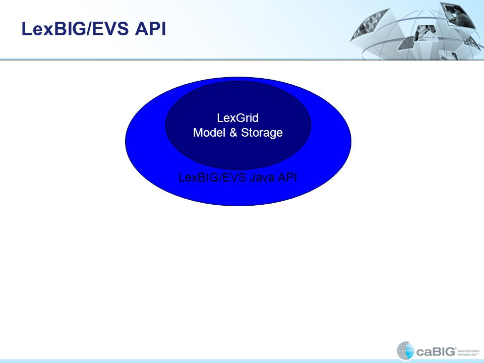 LexBIG/EVS Java API LexBIG/EVS API LexGrid Model & Storage