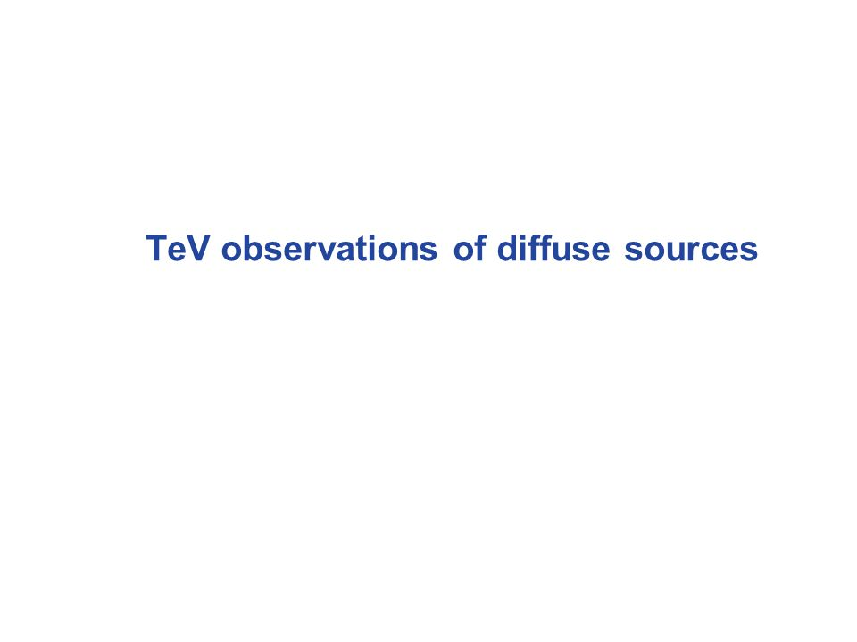 TeV observations of diffuse sources