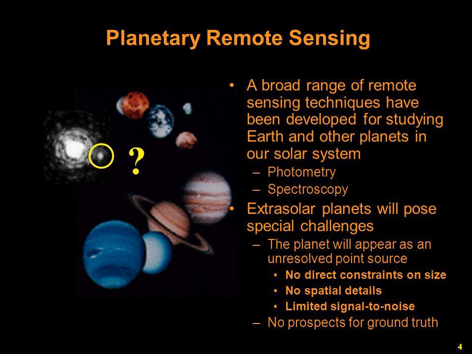 4 Planetary Remote Sensing O3O3 CH 4 .