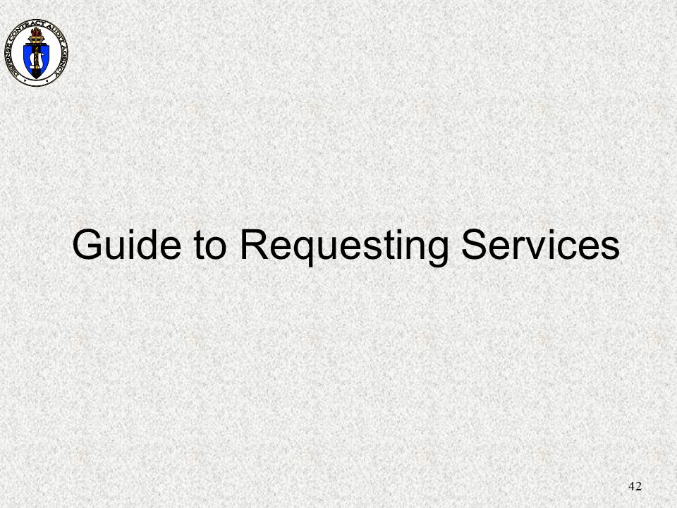 42 Guide to Requesting Services